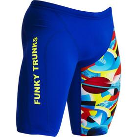 Funky Trunks Training Jammers Men, blauw/bont
